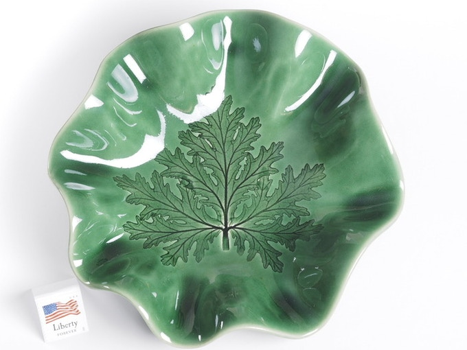 "Reward #11 - Fluted leaf dish 6"" (above) - $39 + Shipping"