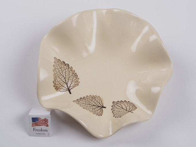 "Reward #12 - Fluted leaf dish 6"" (above) - $40 + Shipping"