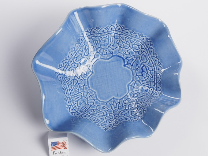 "Reward #13 - Fluted Lace Dish 7"" (above) - $44 + Shipping"