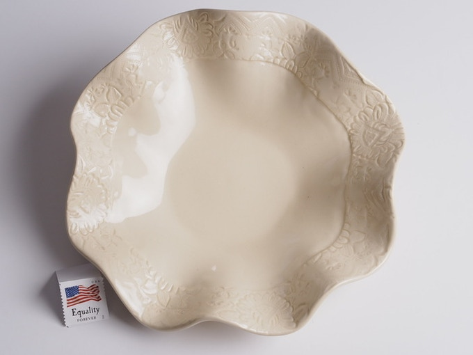 "Reward #15 - Fluted Lace Dish 7"" (above) - $46 + Shipping"