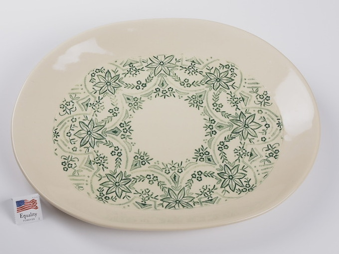 "Reward #17 - Oval Lace Platter 10"" x 9"" (above) - $79 + Shipping"