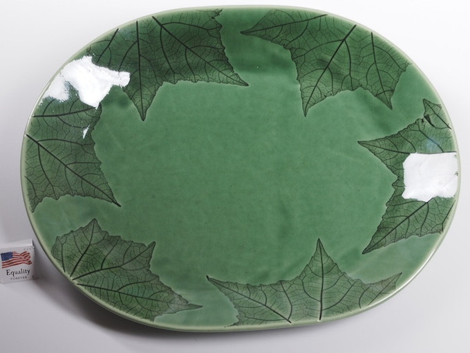 "Reward #18 - Oval Leaf Platter 10"" x 9"" (above) - $80 + Shipping"