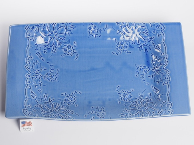 "Reward #19 - Rectangular Lace Platter 12"" x 7"" (above) - $81 + Shipping"