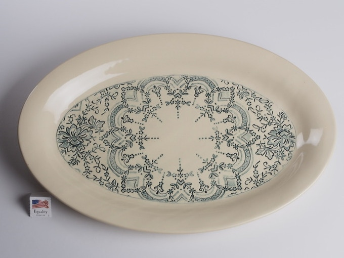 "Reward #21 - Oval Lace Platter 14"" x 10"" (above) - $124 + Shipping"
