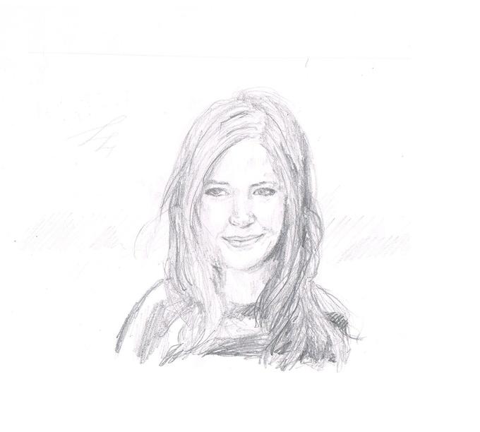 Elsie's rendition of Karen Gillan