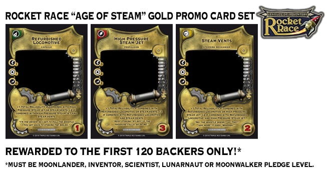 """Age of Steam"" Gold Promo Card Set"