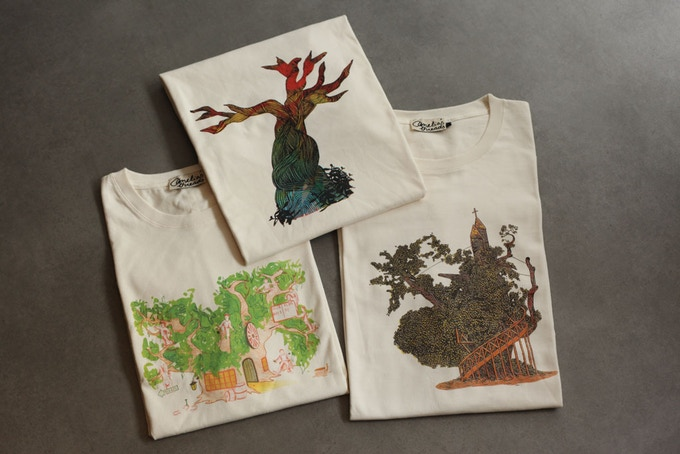 Choose from three stunning handprinted t-shirt designs