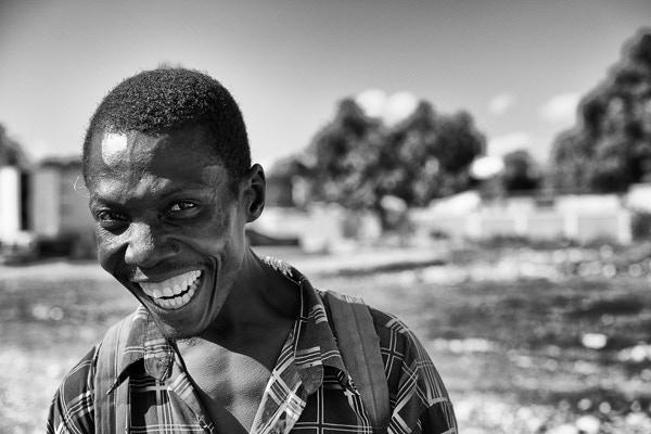 Happy Man in Haiti (image: James Kell)