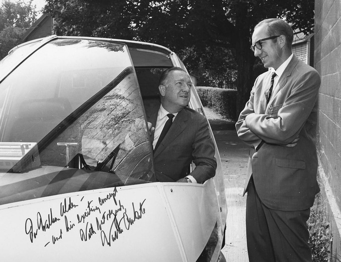 """Walter Cronkite drove the staRRcar prototype for his TV show """"The 21st Century""""."""