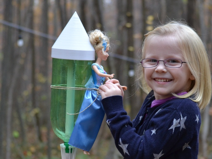* Warning - Princess Barbie does NOT like rockets