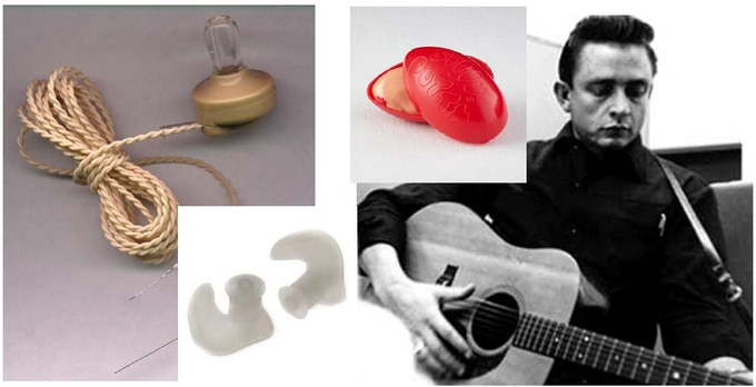 Stephen met Johnny Cash when he was 13 years old which had a life changing impact. Shown above is the first prototype of his In-Ear monitor invention.