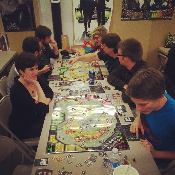 Playtesting at one of the local comic shops!