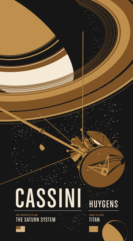 Poster #2: Cassini / Huygens