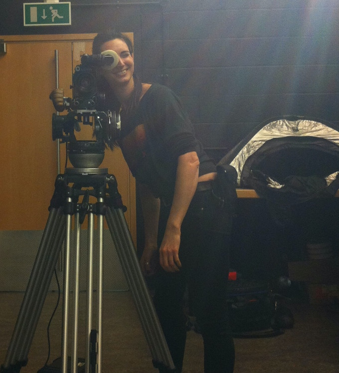 Suz behind the camera for our test shoot!