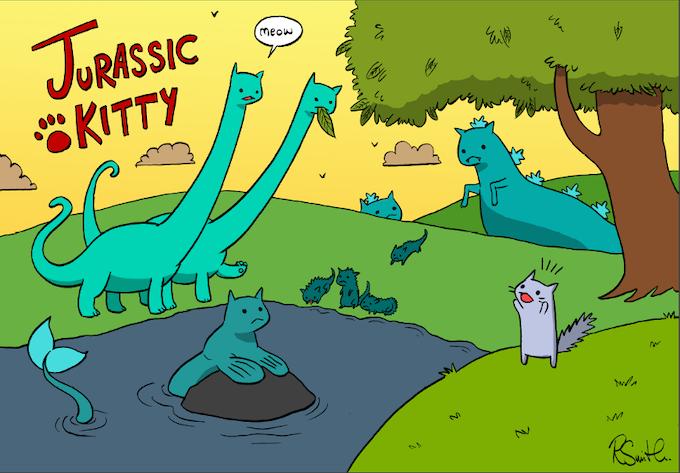Jurassic Kitty by Rachael Smith