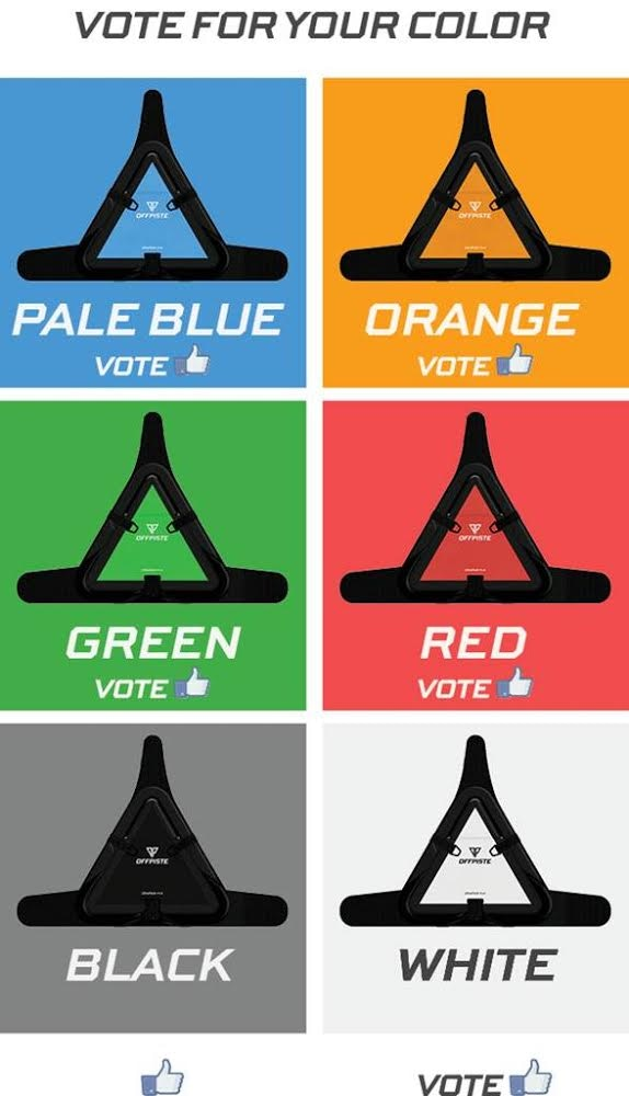 "Go to our Facebook page and ""like"" to vote your favorite color for our future designs!"