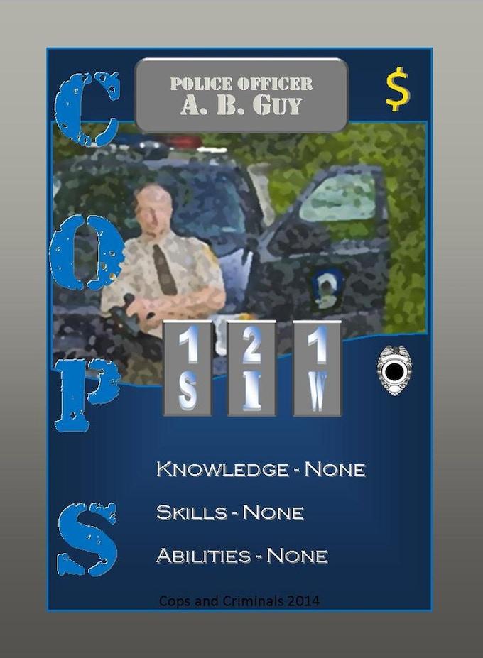 Standard Cop card look
