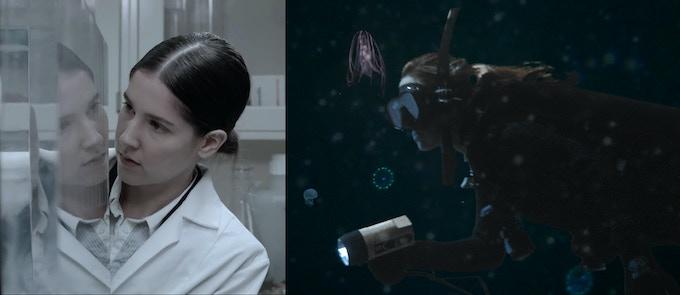 Test-shoot Stills: lab and underwater green screen! Featured: Actor Lorell Bird | Stunt Double Andrea Kemp