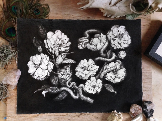 "SOLD ""Heirloom Roses"" - 2/6 of the originals available as a $950 or more reward. (This image also appears in the book!)"