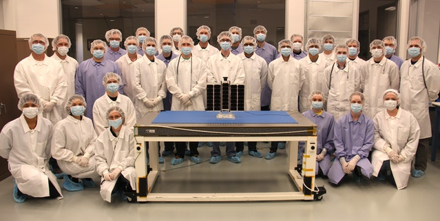 """Here is our team with the """"A3"""" prior to launch delivery."""