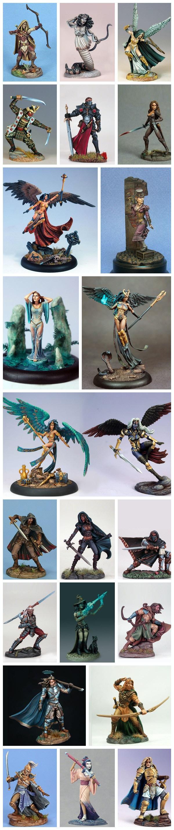 Dark Sword Miniatures New Range - Stephanie Law Masterworks by Dark
