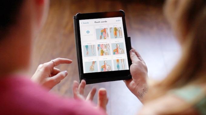 Anatomy students getting a sneak peak at the Humanatomy iPad App