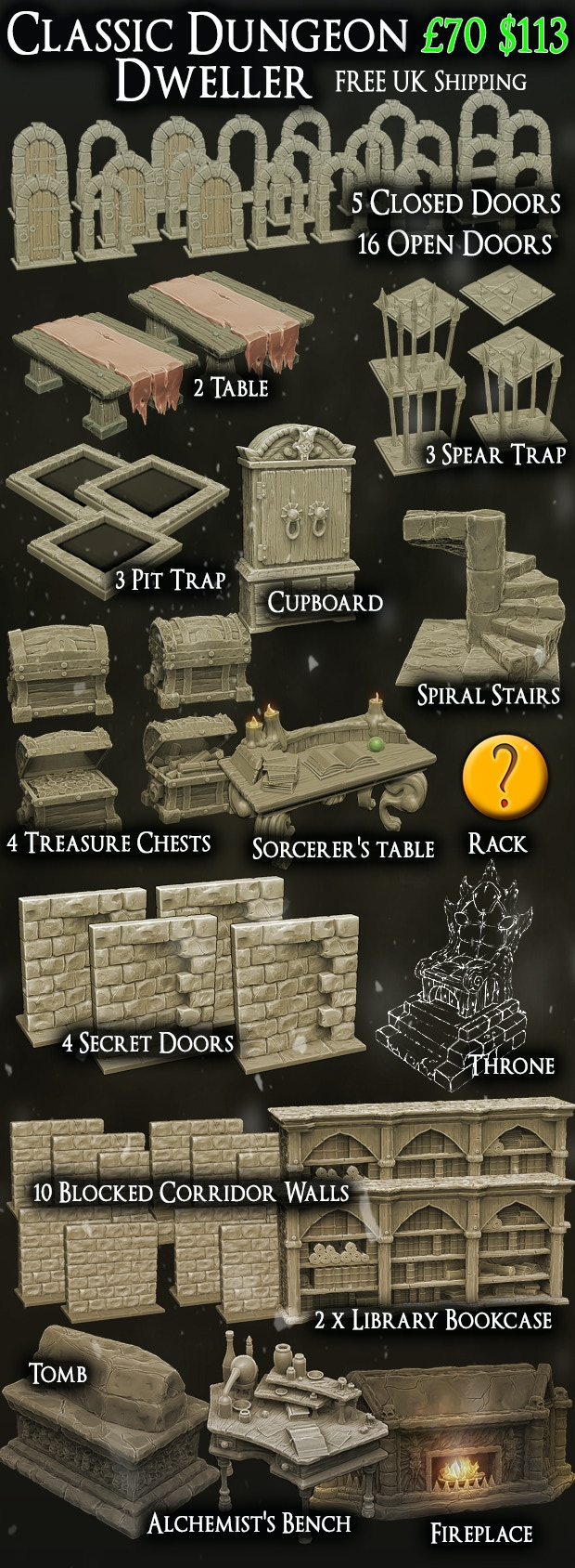 Twisting Catacombs   Miniature Dungeon Scenery by Zealot