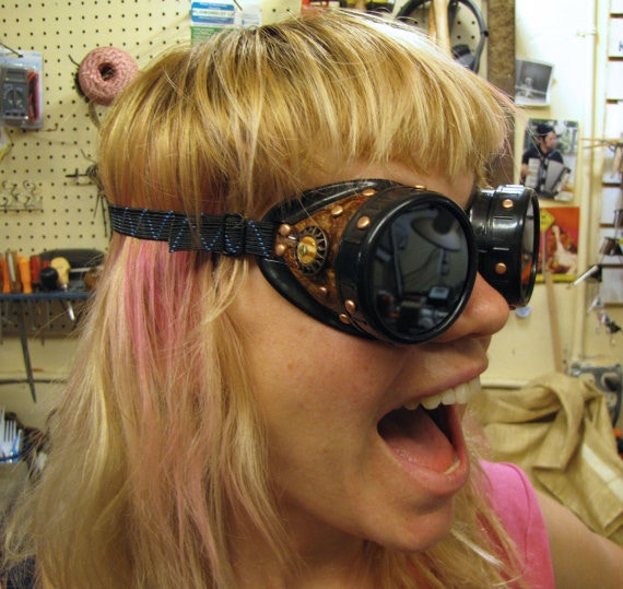 Steampunk Goggles made by Kimric Smythe - example only