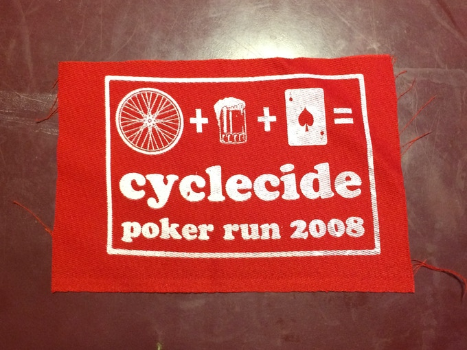 Cyclecide Bike Rodeo patch