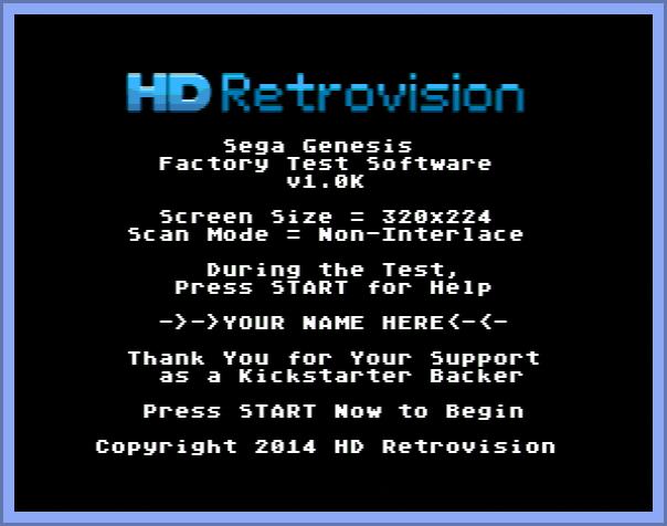 Custom Test Cartridge Screen w/ Your Name