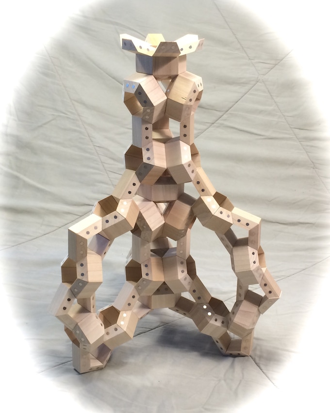 Model tower constructed with 210 HexTetra FACETS