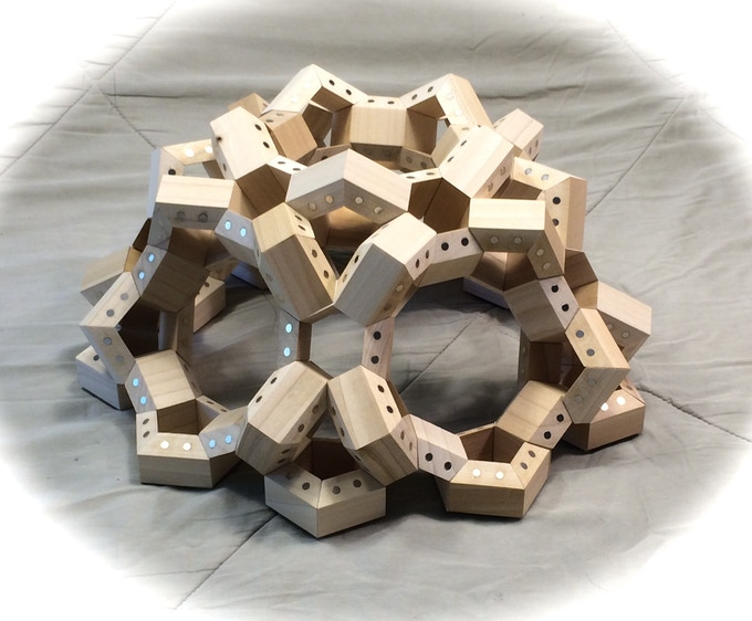 Model dome constructed with 210 HexTetra FACETS