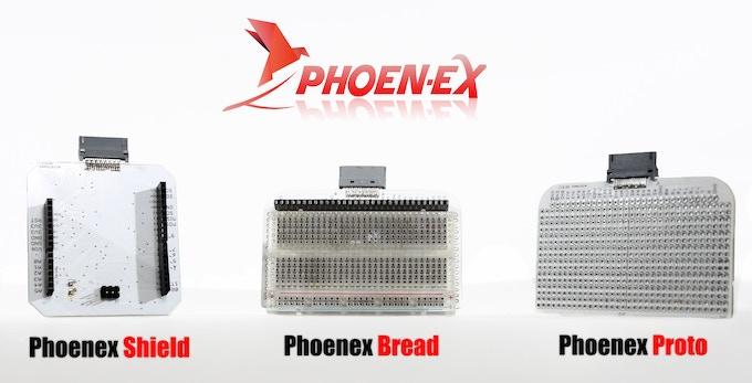 The Phoenard External Extensions board (Phoenex)