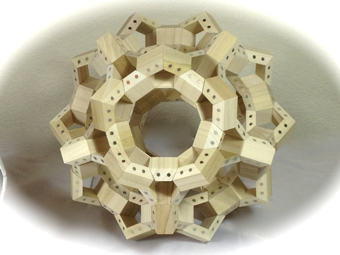 FACETS arranged in a truncated icosidodecahedron