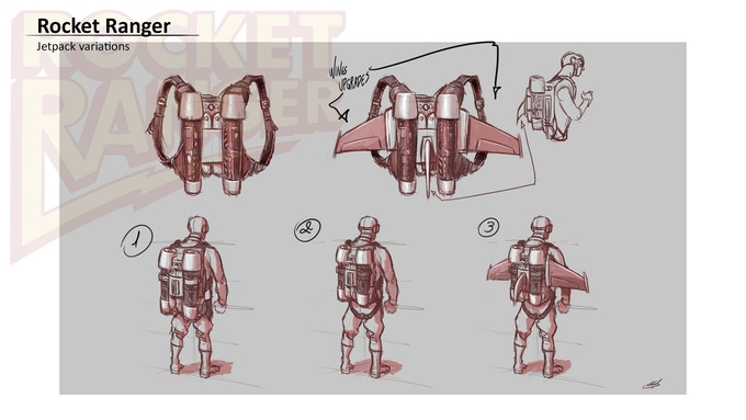 Rocket pack upgrades - early concept art