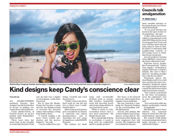 Featured in The Manly Daily Newspaper