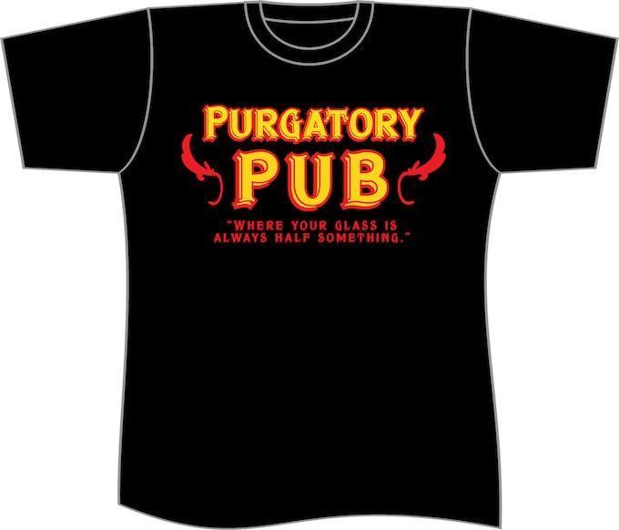 Basic Pub shirt with nothing on the back.