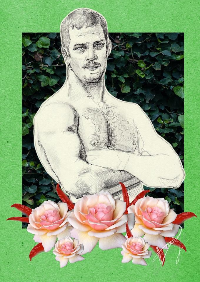 Carlos' postcard, created by Shizzo Takezo