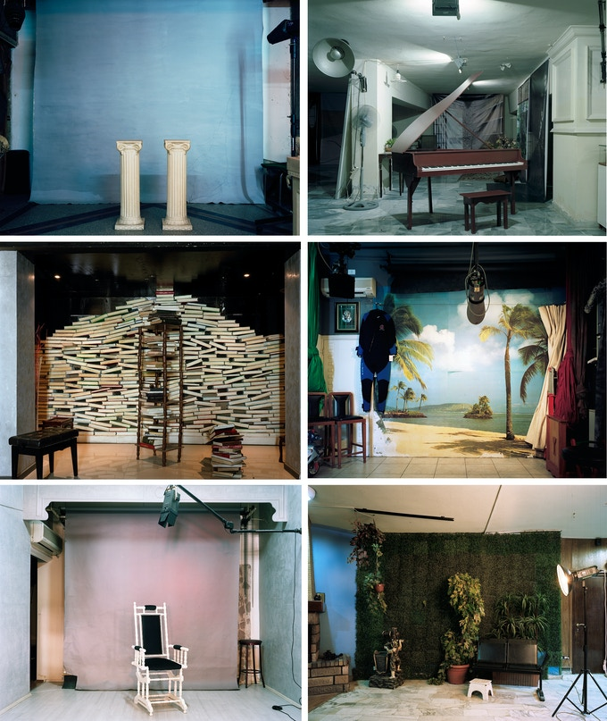 Background, set of 6 images, Hrair Sarkissian