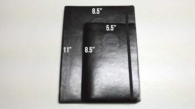 Passion Planner Classic and Passion Planner Compact Dimensions