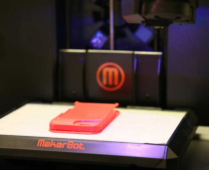 First stage proof of concept prints was made with a Makerbot 3-D printer, then final structural refinements was done on precision CNC machines.