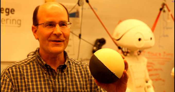 A MegaBall - 3-Pound, Paint-Filled Cannonballs