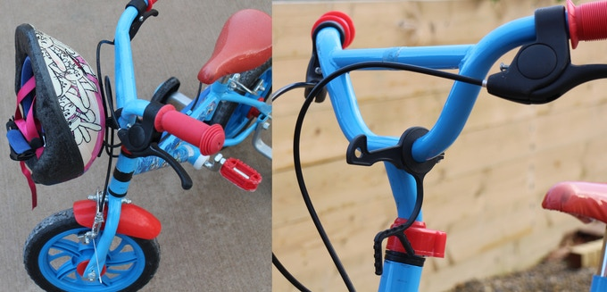 Fitted to a children bicycle