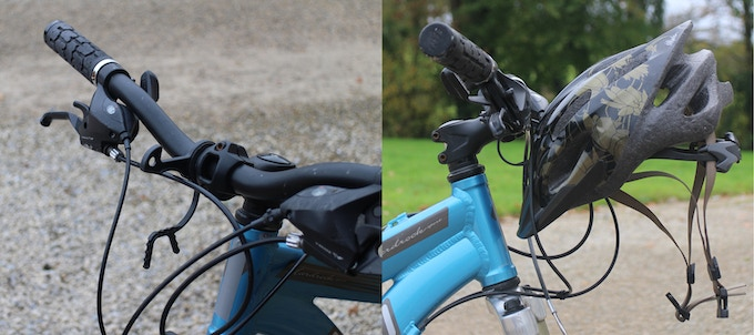Fitted to an adult mountain bicycle