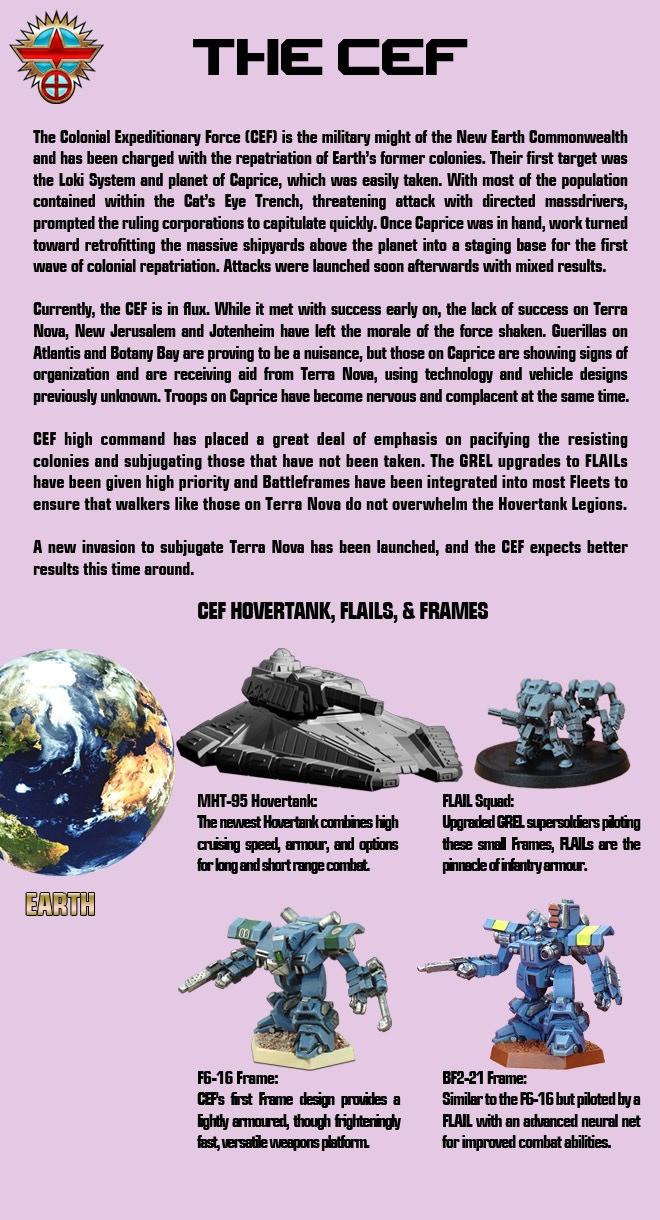 Information on Heavy Gear's CEF Faction.