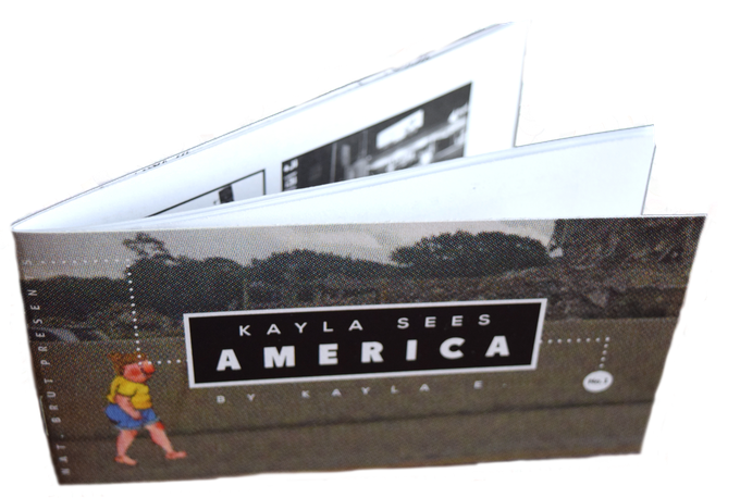 """Kayla Sees America"" mini-comic by Kayla E."