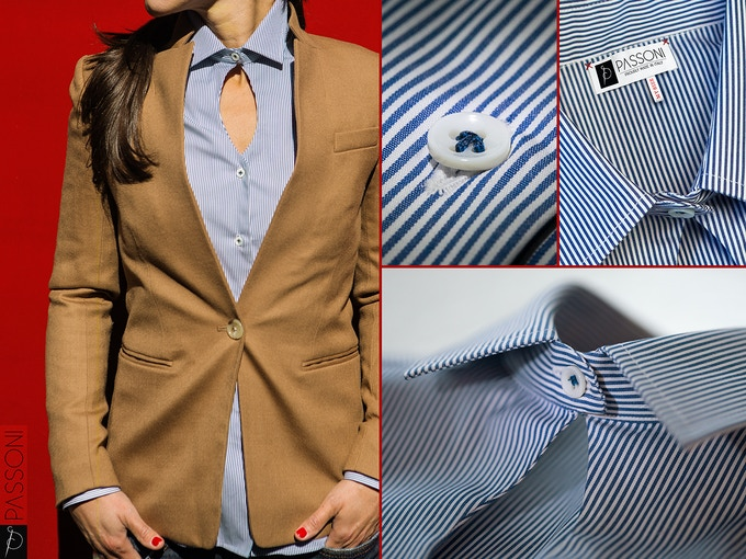 ROMEO shirt. A classic masculine shirt redesigned with an unexpected and feminine twist. Just in the right place.