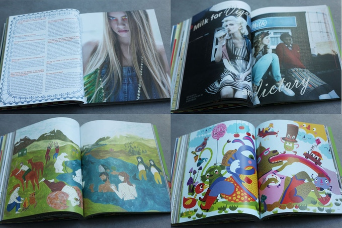 Sample pages from issue 9 of Amelia's Magazine