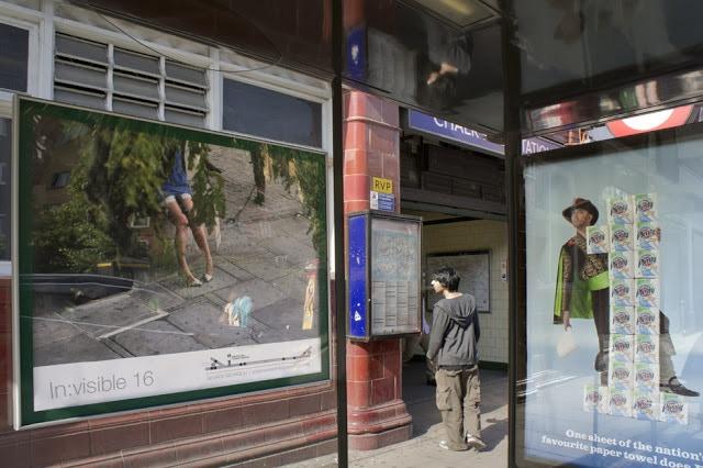 Seen/Unseen exhibition, Camden bus shelters, London