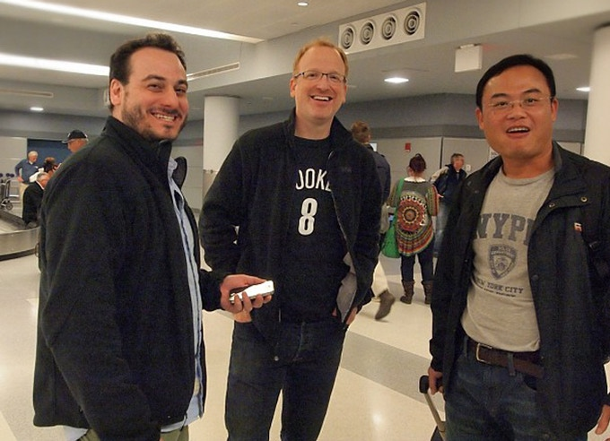 Brett and Rich picking up Jim at JFK to show him our Brooklyn studio and our design process.